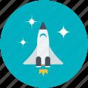 aircraft, airship, missile, rocket, spaceship