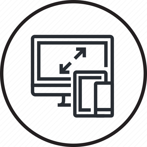 computer, design, development, mobile, responsive, tablet, website icon
