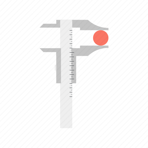 calipers, development, instrument, measurement, precision, ruler, tool icon