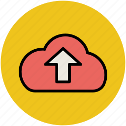 cloud, cloud computing, icloud, up arrow, uploading icon