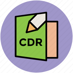 cdr, cdr file, document, extension, file, mime type icon