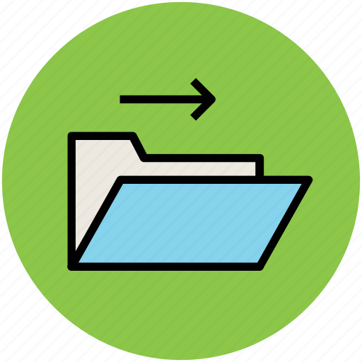 copy folder, folder, folder file, folder with arrow icon