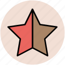 bookmark, favourite, ranking star, star, star shape icon