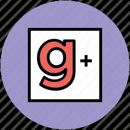 g plus, google plus, social media, website icon