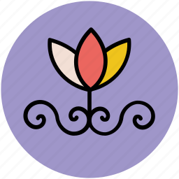 bloom, blossom, decoration, decoration flower, floral icon