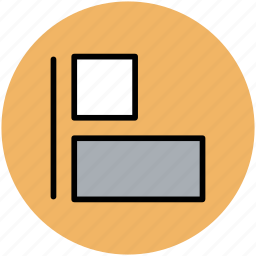 graphic design, graphics editor, layout, line and rectangle, rectangles, rectangular layout icon