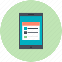 diary application, ios app, list item, notebook application, to do app icon