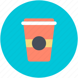 coffee, coffee cup, coffee paper cup, cold coffee, takeaway coffee icon