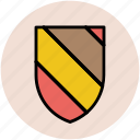 color filling, designing, layout, protection, shield shape icon