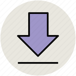 down arrow, download, download file, downloading, save file, web ui icon