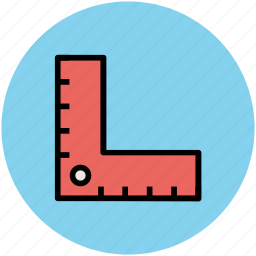 math, measure, measurement, measuring tool, ruler, scale icon