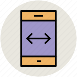 android phone, arrow on mobile, ios, iphone, mobile, smartphone icon
