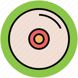 cd, compact disk, data storage, dvd, multimedia, record, vinyl icon