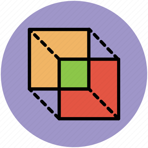 3d design, cubes, design, rectangle cubes icon