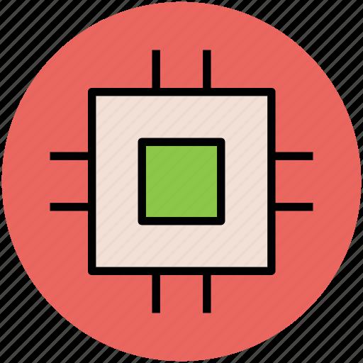 chip, cpu, cpu chip, desktop processor, microchip, processor icon
