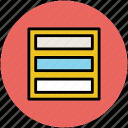 horizontal bars, layout, web bars, web portion icon