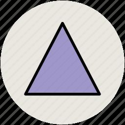 design, polygon, triangle design, triangle shape icon