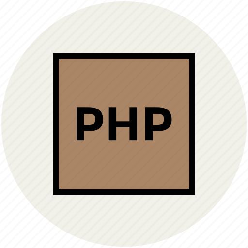 development, php, php format, php source code, web language icon