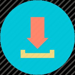 arrow, down arrow, download, download button, receive arrow icon