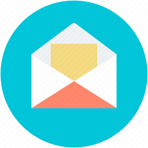 email, mail, message, open envelope, open letter icon
