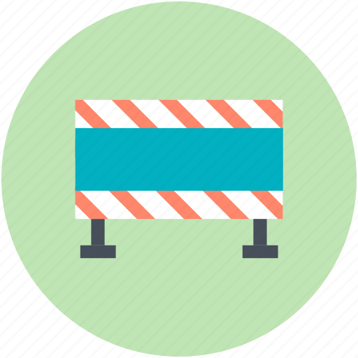 barrier, boundary, construction barrier, road barrier, under construction icon