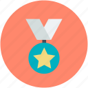 award, award badge, award ribbon, ribbon, star badge icon