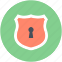 protection, security, shield, shield lock, shield sign