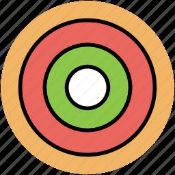 dartboard, designing, ellipse shape, focus, goal icon