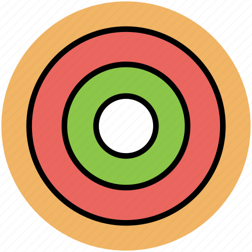 dartboard, designing, ellipse shape, focus, goal icon