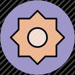 design, designing, polygon, polygon draw, polygon shape, sunflower shape icon