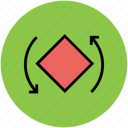 arrow, circle, curved tool, move tool, refresh, reload, rotate tool icon