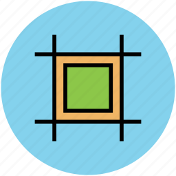 crop, crop tool, cube, fill tool, photoshop tool icon