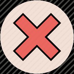 cancel, cross, erase, remove, remove tool icon