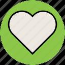 affection, heart, heart shape, like, love, passion icon