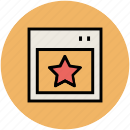 bookmark, favourite, ranking star, seo, star, website ranking icon