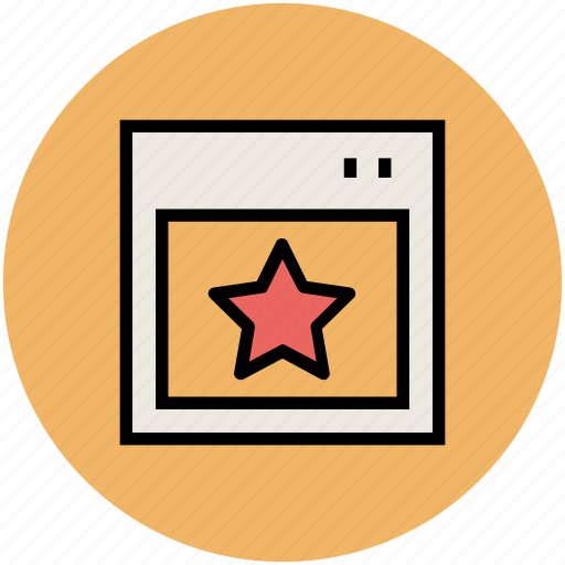 bookmark, favourite, ranking star, seo, star, website ranking icon