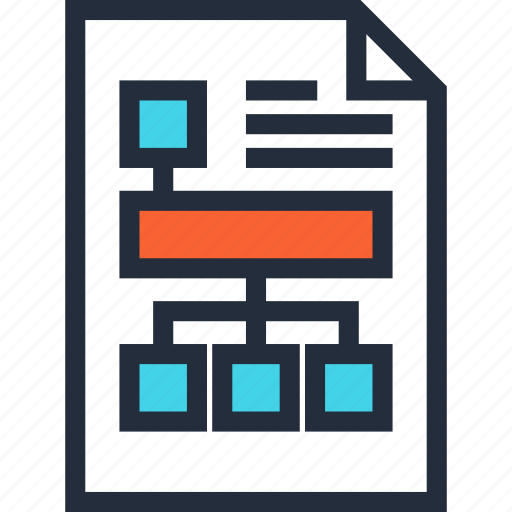 diagram, flowchart, management, plan, project, scheme, workflow icon