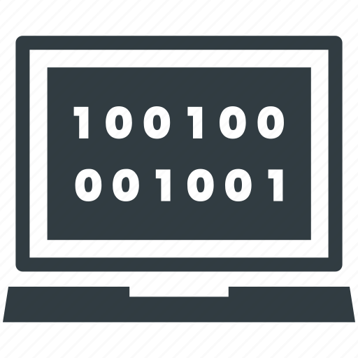 binary, binary code, dos, dos coding, language icon