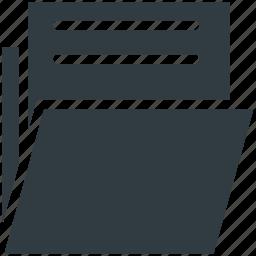 data folder, data storage, document, file, folder icon