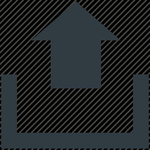 arrow, indicator, upload, uploading, upward icon