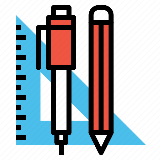 angle, degree, mathematics, measure, pen, pencil, write icon