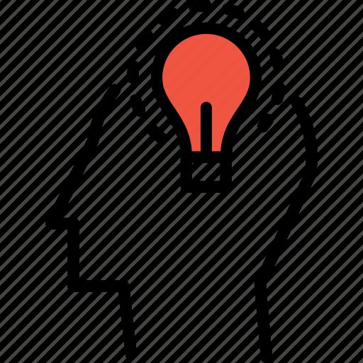 business, idea, innovation, invention, man, manpower, power icon