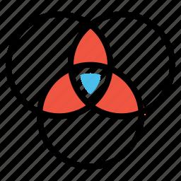 analysis, circle, design, geometry, graph, shape, statics icon
