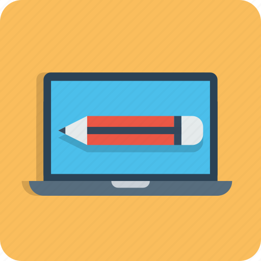 computer, edit, laptop, pencil, seo, tools, web icon
