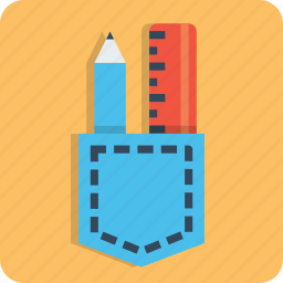 design, drawing, holder, mug, pencil, ruler, write icon