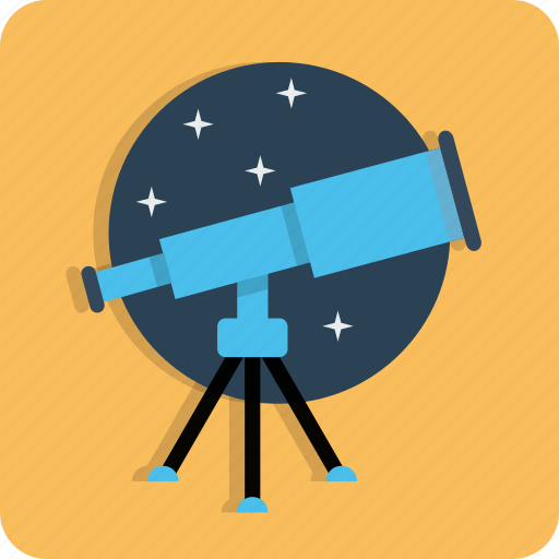 astronomy, find, search, seo, stars, telescope, web icon