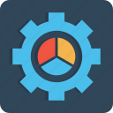 chart, configure, gear, manage, pie, preferences, setting icon