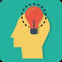 power, business, manpower, idea, invention, innovation, man icon