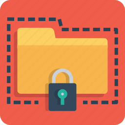 folder, lock, password, protect, secure, seo, web icon