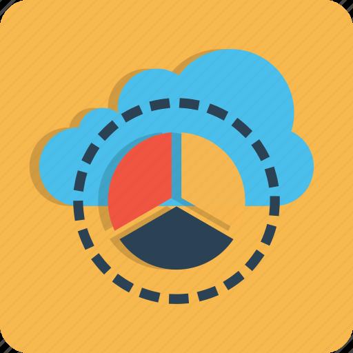 chart, cloud, data, optimization, performance, pie, report icon